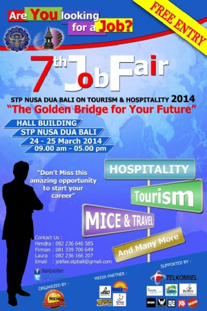7th Job Fair - STP NUSA DUA BALI ON TOURISM & HOSPITALITY 2014